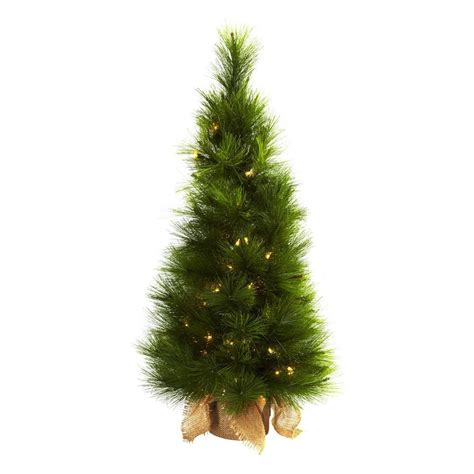 shop nearly natural 3 ft pre lit slim artificial christmas