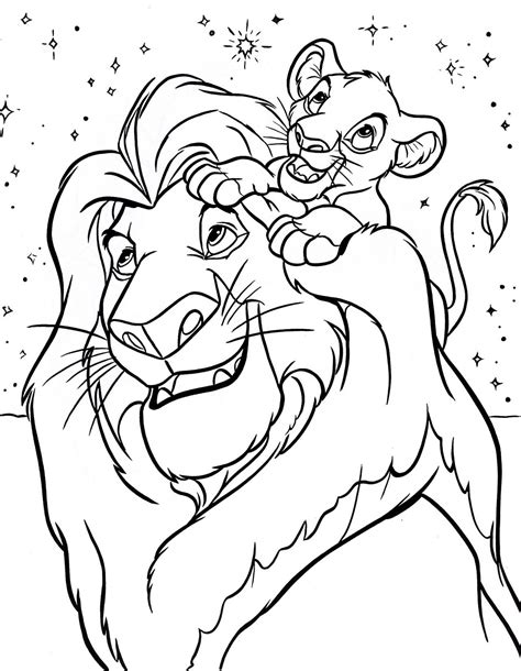 lion king coloring pages free online lion king coloring pages best coloring pages for kids