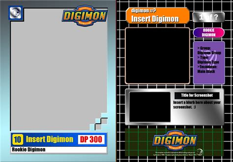 make your own trading cards template digimon trading card base template by ikacte on deviantart
