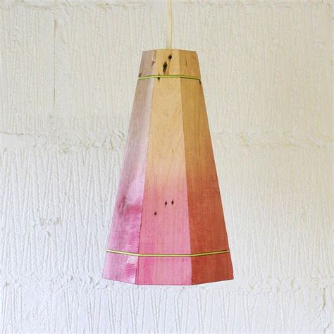 Handmade Light Shade - large colourful wooden pendant light by factorytwentyone