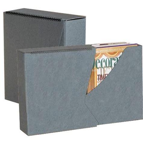 zeitschriften aufbewahrung slide out storage magazine box gray white education