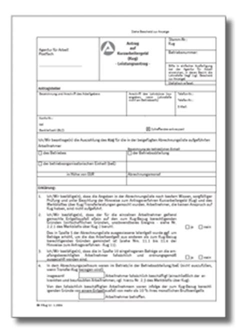 Musterbrief Erstattung Bearbeitungsgebühr Kredit Pdf Antrag Auf Kurzarbeitergeld Kug De Formular