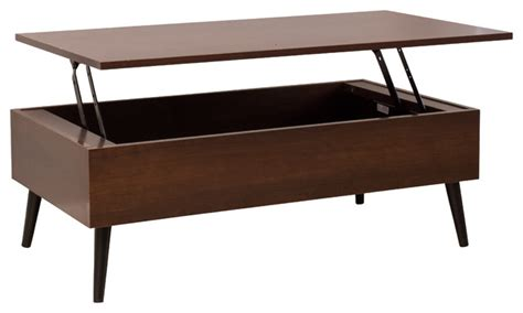 mid century lift top coffee table caleb brown wood lift top storage coffee table