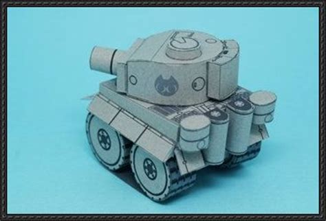 wwii sd tiger i heavy tank free paper model