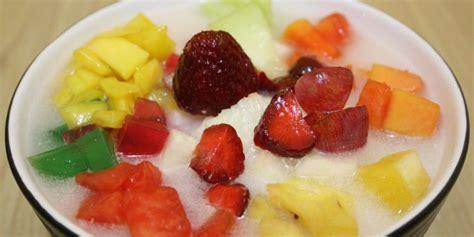 cara membuat es buah bandung resep cara membuat es buah segar dengan susu yang enak dan