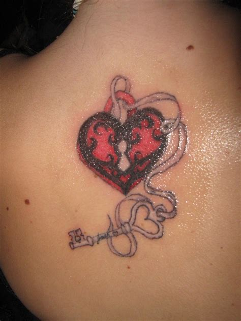 tattoos of lock and key for couples lock and key shoulder