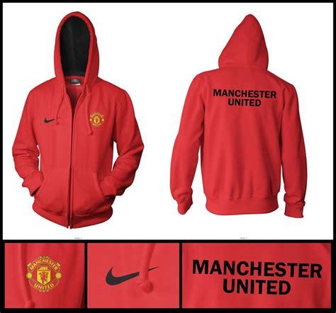 Jacket Hoodies Manchester United Merah Depan Belakang cyberscoreclothing