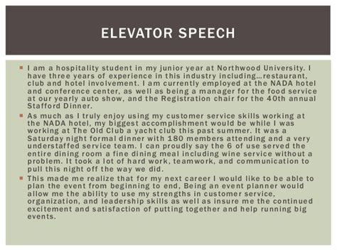 Elevator Speech Exles For Mba Students by Career Portfolio Karley Constantineau