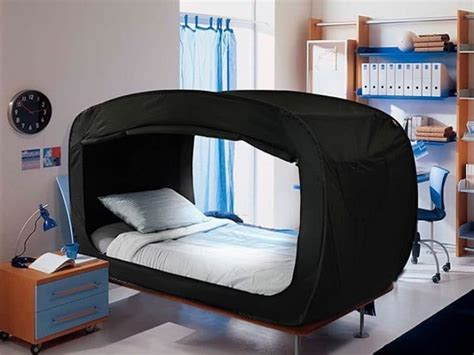 pop up bed tent privacy pop s bed tent helps you sleep soundly when you re