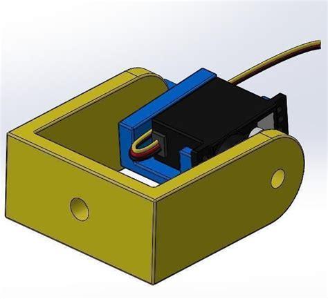 Brecket Mini Servo Kamera Breket pan tilt servo bracket kit for futaba hs 6 free 3d model 3d printable stl cgtrader