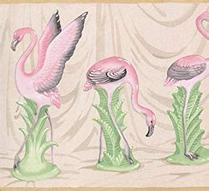 flamingo wallpaper border pink flamingo wallpaper border tan edge pc147b