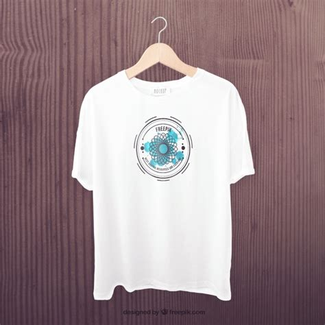 Kaos Distro One Graphic 2 white t shirt front mockup psd file free