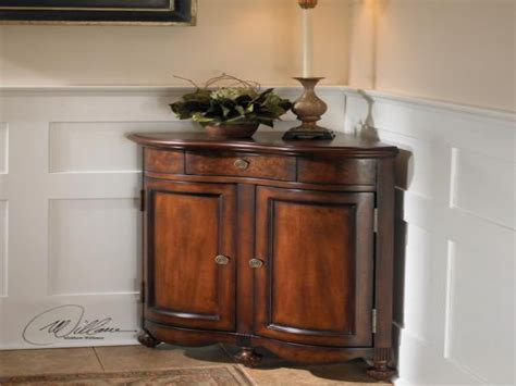 corner console table with storage corner cabinet living room living room