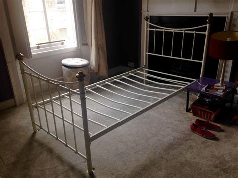 Painted Metal Bed Frame Replacing Single Metal Bed Frame For A Bed Style White Painted Metal Single In