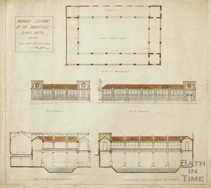 c section bath proposed covering of the promenade at the roman baths