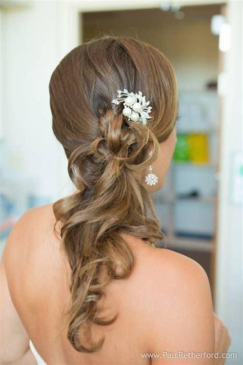 wedding hair side ponytail wedding hairstyles pinterest