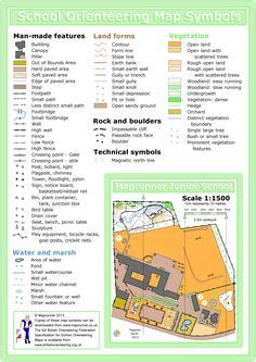 printable orienteering cards map symbols flash cards print out and laminate and then