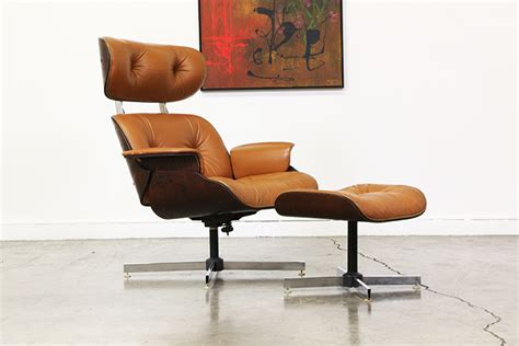 mid century leather chair mid century leather lounge chair by plycraft vintage