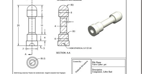 pattern in creo sketch 3d solid modelling videos valve lifter practice