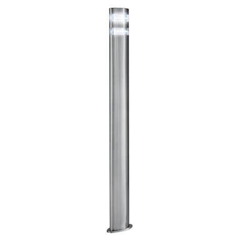 outdoor led garden l post light modern satin silver ip44