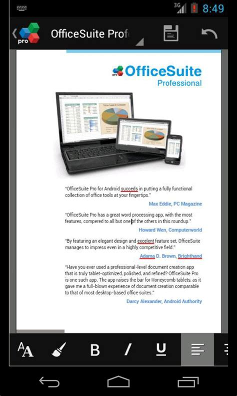 office suite for mobile office suite pro android evernote app center