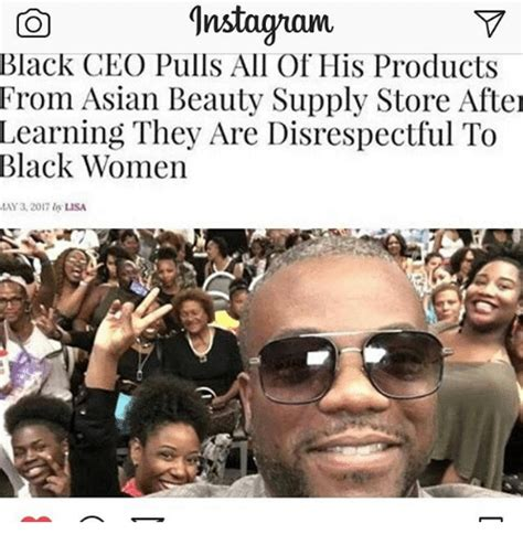 Meme Beauty Supply - gnstaguam on black ceo pulls all of his products from