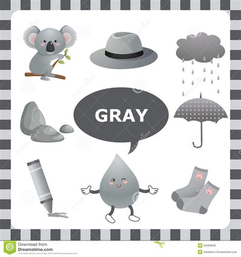 black to grey colored clip gray color stock vector image 55286848