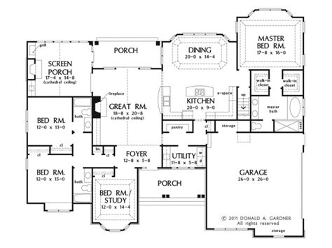 I Think This May Be My Favorite One Story Main House 4 One Story House Plans With Bonus Room Above Garage