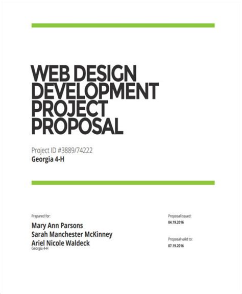 82 Project Proposal Sles Sle Templates Web Development Project Template
