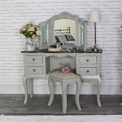 grey mirrored dressing table large vintage grey twin pedestal dressing table mirror
