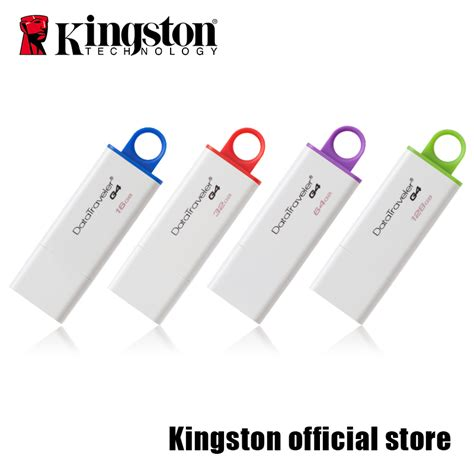 Flashdisk Kingston 16gb Hologram Flashdrive Flash Disk Drive Kingstone kingston usb 3 0 datatraveler g4 flash disk 16gb 32gb 64gb 128gb in usb flash drives from