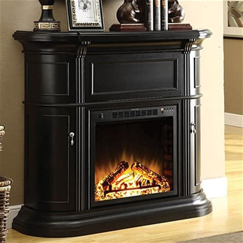48 quot black media fireplace big lots snuggle up by the