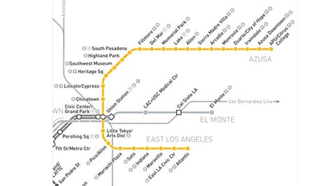 metro gold line map service begins on metro gold line extension nbc southern california