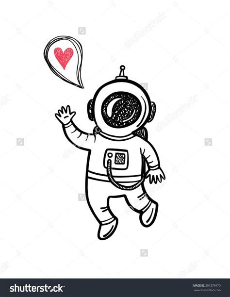 doodle drawing illustrator 25 best ideas about astronaut illustration on