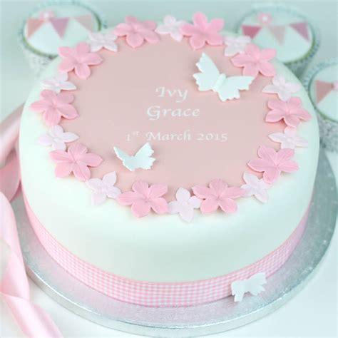 personalised christening cake decoration kit