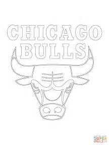 chicago bulls logo coloring page free printable coloring