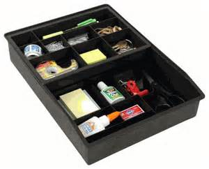 everything drawer organizer 2 tier sliding tray black