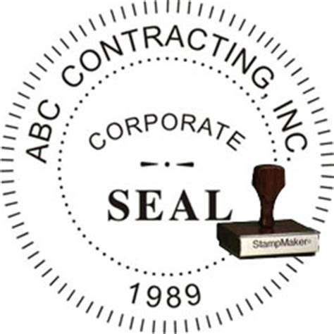 Corporate Seal St Wood St Thestmaker Com Corporate Seal Template