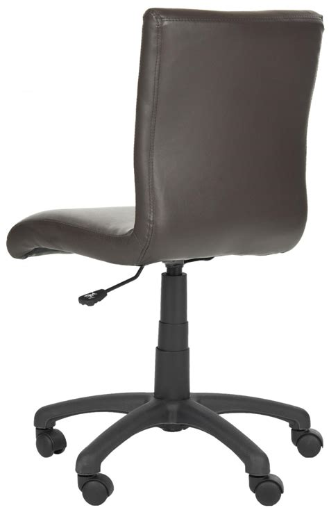 brown leather armless desk chair safavieh fox8501a brown armless desk chair 261 00