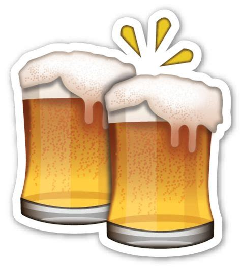 beer emoji clinking beer mugs emo bier und becher
