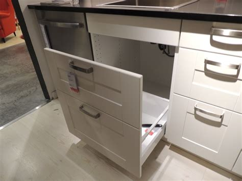 kitchen cabinet bins how ikea trash bin cabinets affect your kitchen design