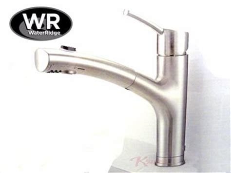 new waterridge brushed nickel pull out kitchen faucet