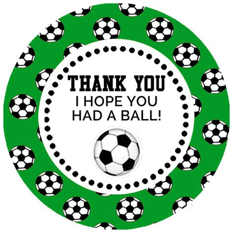 free printable soccer party decorations printable soccer party favor tags stickers