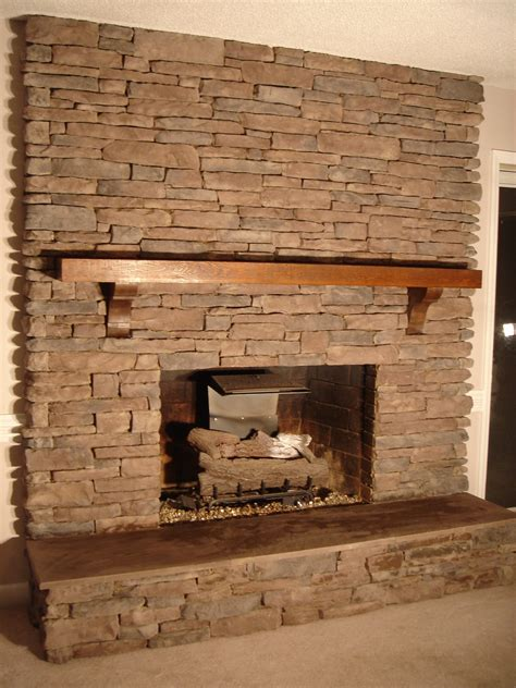 Stones Fireplace by Document Moved