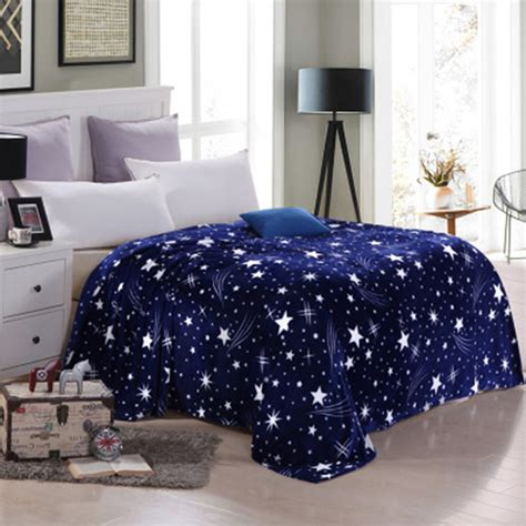 travel bedding bright star pattern blanket winter warm blankets for bed