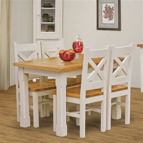 Marseille Dining Room Furniture by Marseille Distressed 120cm 180cm Dining Set With 4 Chairs