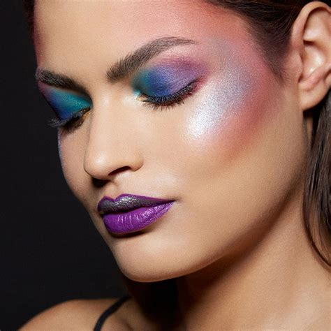 Make Up Maybelline by Unicorn Makeup Tutorial Rainbow Highlighter Maybelline