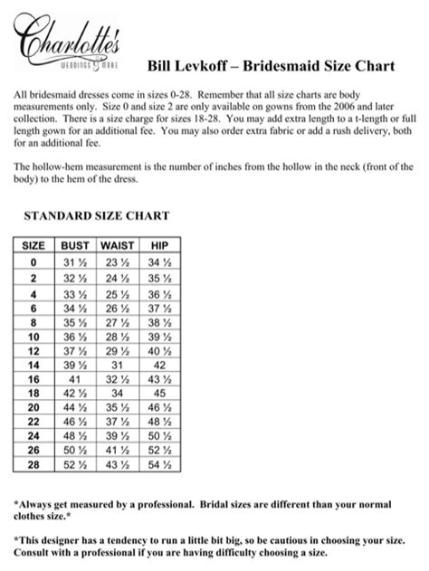 bill levkoff size chart bill levkoff size chart for free formtemplate