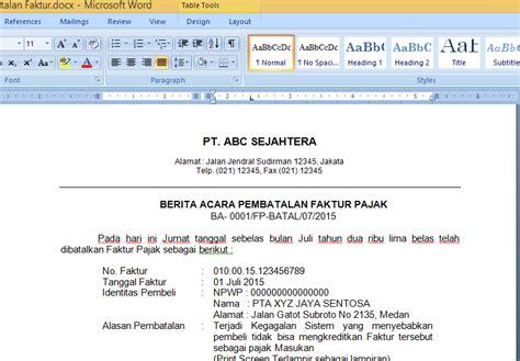 Format Berita Acara Pembatalan Transaksi | penjelasan download contoh berita acara pembatalan