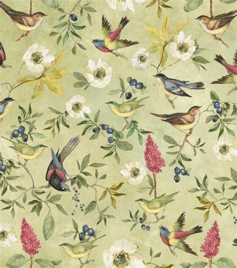 quail pattern fabric susan winget premium quilt print botanical meadow song
